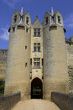 Il castello mura Loire Valley montreuil-bellay Francia Immagine Stock