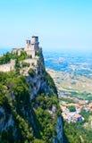 Il castello nel San Marino Fotografia Stock