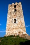 Il castello nella spiaggia Chalkidiki Immagini Stock Libere da Diritti