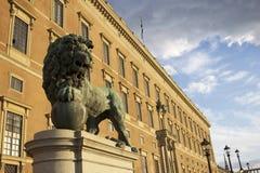Il castello reale a Stoccolma Fotografie Stock Libere da Diritti