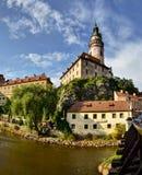 Il castello sopra la città Fotografia Stock Libera da Diritti