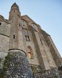Il castello sull'isola di Mont Saint Michel Fotografia Stock Libera da Diritti