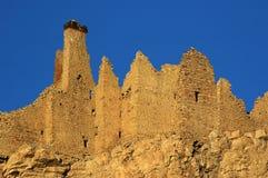 Il castello tibetano dilapidato Fotografia Stock Libera da Diritti