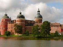 Il castello trascura l'acqua fotografia stock libera da diritti