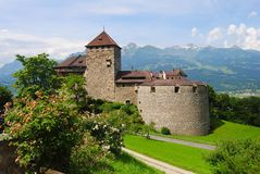 Il castello a Vaduz, Liechtenstein Fotografia Stock Libera da Diritti