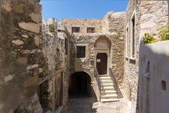 Il castello veneziano nell'isola di Naxos, Cicladi Immagini Stock