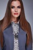 Il catalogo della donna copre i capelli sexy di trucco di bellezza di modo di stile Immagini Stock Libere da Diritti