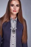 Il catalogo della donna copre i capelli sexy di trucco di bellezza di modo di stile Fotografia Stock Libera da Diritti