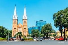 Il Cathédrale Notre Dame de saigon Immagini Stock Libere da Diritti