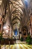 Il Cathedralin Vienna di St Stephen nel tempo di Natale fotografie stock