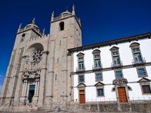 Il Catherdral di Oporto, Portogallo fotografie stock libere da diritti