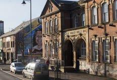 Il cattolico cade strada, Belfast, Irlanda del Nord Fotografie Stock Libere da Diritti