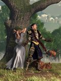Il cavaliere di canto royalty illustrazione gratis