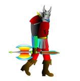 Il cavaliere di colore rosso di Goinging Immagine Stock