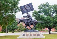 Il cavaliere di sprizzo di OSU all'università di Stato di Oklahoma Immagini Stock