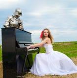 Il cavaliere e la sposa Immagine Stock Libera da Diritti