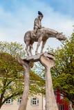 Il cavaliere ed il lago di Costanza Immagine Stock