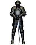Il cavaliere nero Fotografie Stock Libere da Diritti