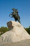 Il cavallerizzo bronzeo Immagini Stock
