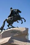 Il cavallerizzo bronzeo Fotografia Stock Libera da Diritti