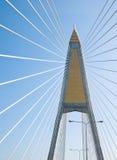 Il cavo ha restato il ponte a Bangkok Fotografia Stock Libera da Diritti