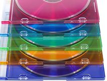 Il CD, DVD dimagrisce il colore Fotografia Stock