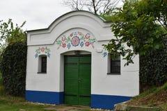 Il celler tipico del vino in repubblica Ceca, ¾ e di Petrov-PlÅ immagini stock
