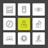 il cellulare, computer, la tecnologia, chiamate, casa, icone di ENV ha messo la VE royalty illustrazione gratis