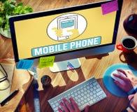 Il cellulare del telefono cellulare cellulare comunica il concetto Immagini Stock