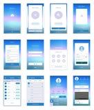 Il cellulare scherma il corredo dell'interfaccia utente Utente moderno Immagini Stock Libere da Diritti