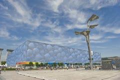 Il centro acquatico di Pechino Fotografia Stock
