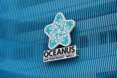 Il centro commerciale di lungomare di Oceanus firma dentro la Malesia immagine stock libera da diritti