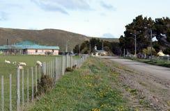Il centro del villaggio di Cameron del comune di Temaukel Fotografia Stock