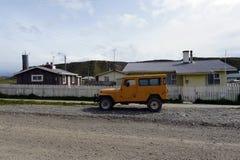 Il centro del villaggio di Cameron del comune di Temaukel Tierra del Fuego Immagine Stock