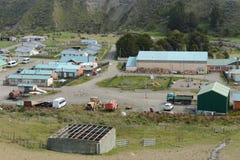 Il centro del villaggio di Cameron del comune di Temaukel Tierra del Fuego Immagini Stock