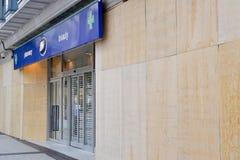 Il centro dell'Birmingham-Inghilterra si solleva 2011-Boots Fotografie Stock