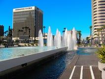 Il centro della città di Long Beach Fotografia Stock Libera da Diritti