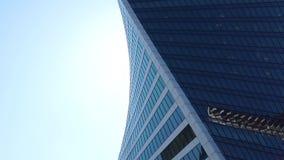 Il centro di affari moderno nella città di Mosca archivi video