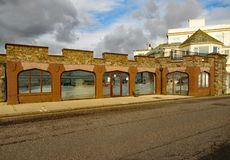 Il centro di interpretazione di arché in Sidmouth Si è aperto nel 2011 e fornisce le informazioni sulla costa giurassica fotografie stock