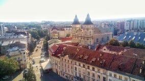 Il centro di vecchia città Ivano-Frankivsk Immagini Stock Libere da Diritti