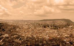 Il centro storico di Quito, filtro in bianco e nero Immagini Stock