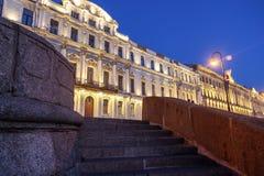 Il centro storico di St Petersburg, le facciate di costruzione fotografia stock libera da diritti