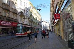 Il centro urbano Brno il 30 aprile 2016 Brno è la città secondo più esteso in repubblica Ceca Fotografie Stock Libere da Diritti