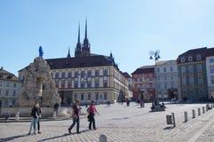 Il centro urbano Brno il 30 aprile 2016 Brno è la città secondo più esteso in repubblica Ceca Immagini Stock