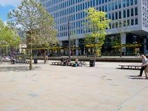 Il centro urbano e del centro commerciale immagini stock