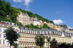 Il centro urbano in Karlovy varia Fotografia Stock Libera da Diritti