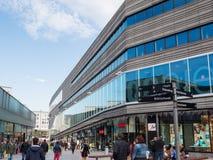 Il centro urbano moderno di Almere, Paesi Bassi Immagine Stock