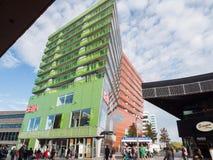 Il centro urbano moderno di Almere, Paesi Bassi Fotografie Stock Libere da Diritti