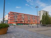 Il centro urbano moderno di Almere, Paesi Bassi Fotografia Stock