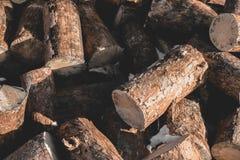 Il ceppo di legno del cerchio dell'albero del tek rotondo cutted il fondo fotografie stock libere da diritti